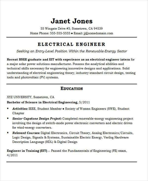 25+ Best Engineering Resume Templates | Free & Premium Templates