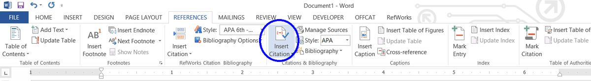 Creating a Reference List and In-text Citations in Microsoft Word ...