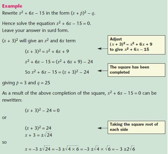 Quadratic Equations - Mathematics GCSE Revision
