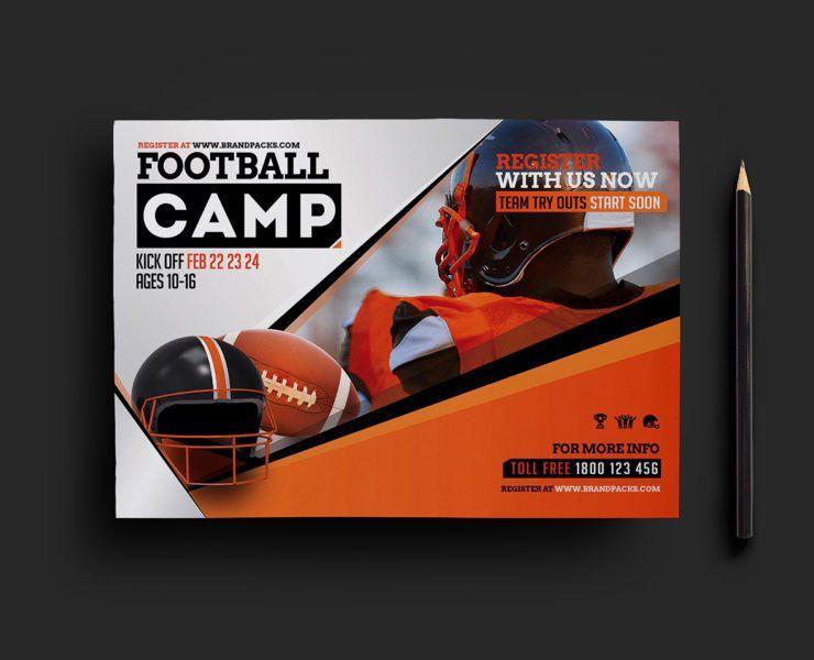 Football Camp Flyer Template v2 - BrandPacks