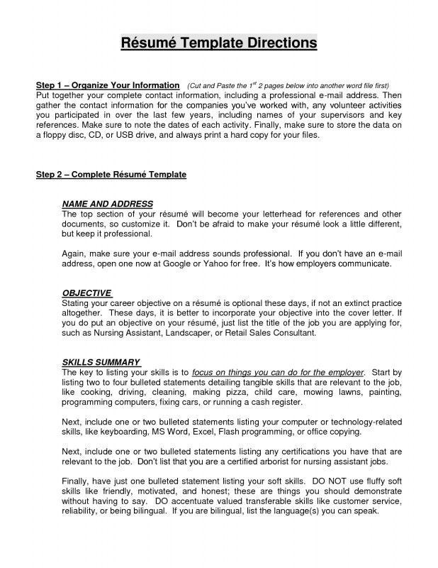 Career Change Resume Template. Sample Resume Career Change Career ...