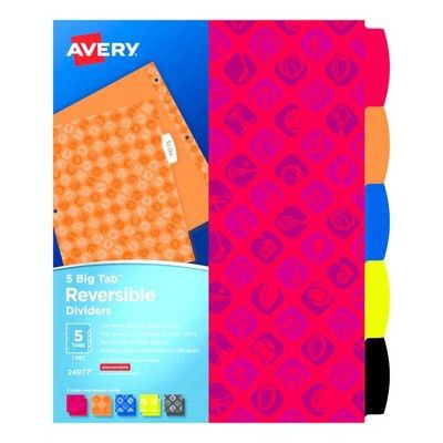 Avery® 5 Big Tab™ Dividers : Target