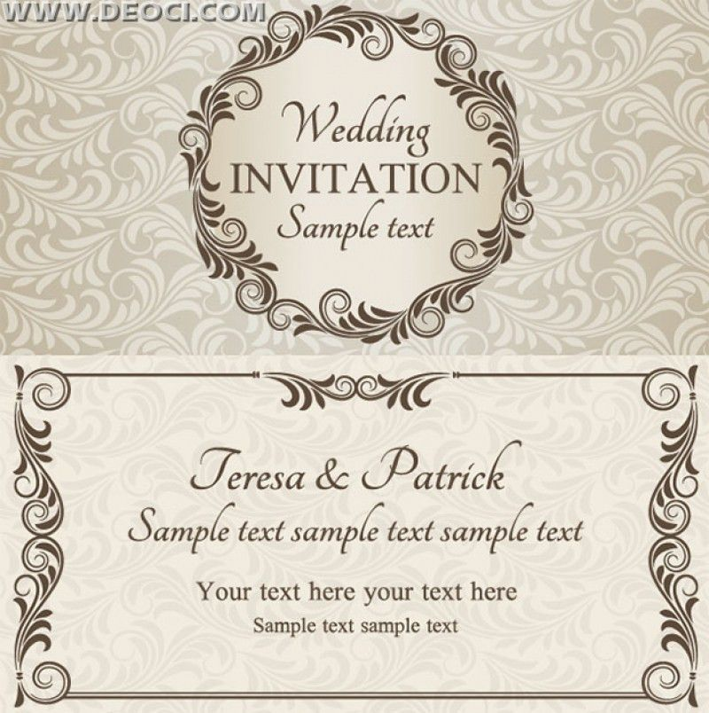 Wedding Cards Design Templates Free Download | wblqual.com