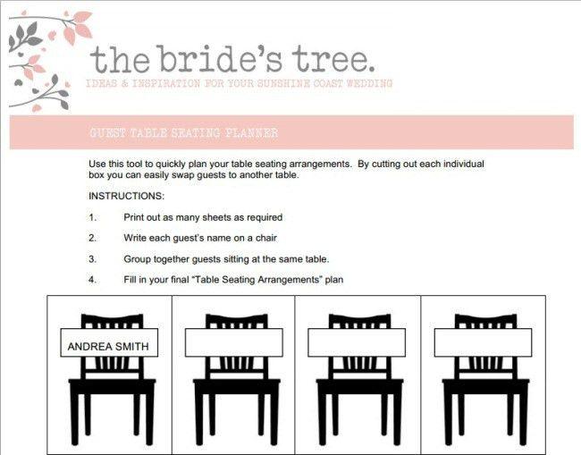 Seating Arrangements - The Bride's Tree