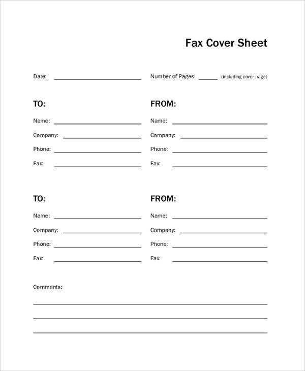 cover letter for fax