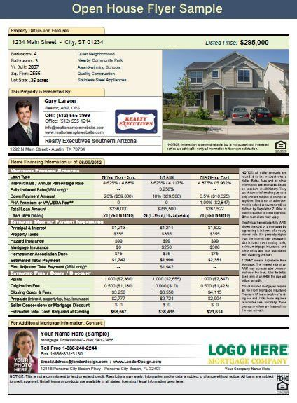 14 Best Photos of Realtor Open House Flyers Mortgage - Mortgage ...