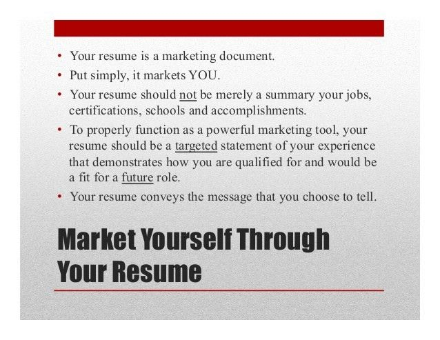 Great Resumes Are Powerful Marketing Documents