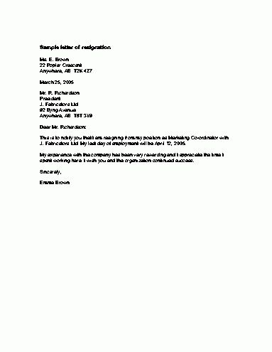 Related to resignation letter template letters of resignation ...
