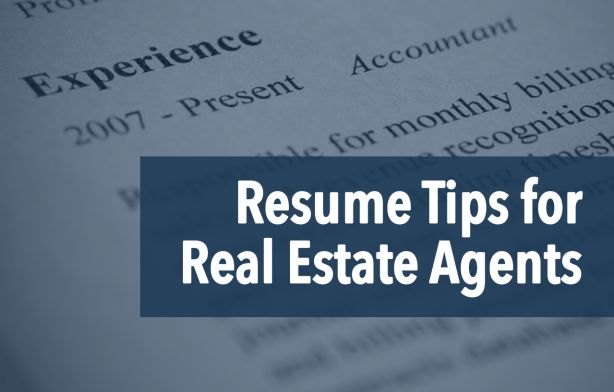 The Real Estate Agent Resume: Examples & Tips | Placester