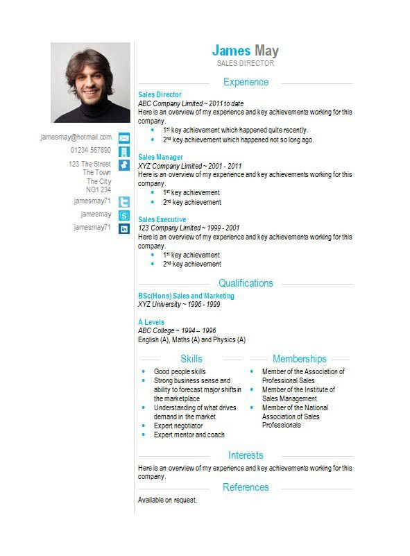 CV template collection - 121 free templates in Microsoft Word format