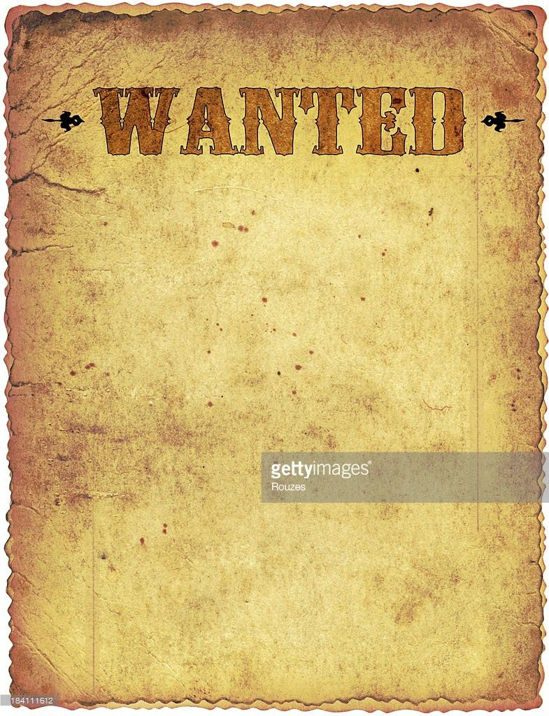 Wanted Poster Stock Photo | Getty Images