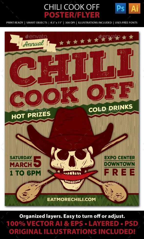 Chili Cook Off Competition Poster, Flyer or Ad | Brochures