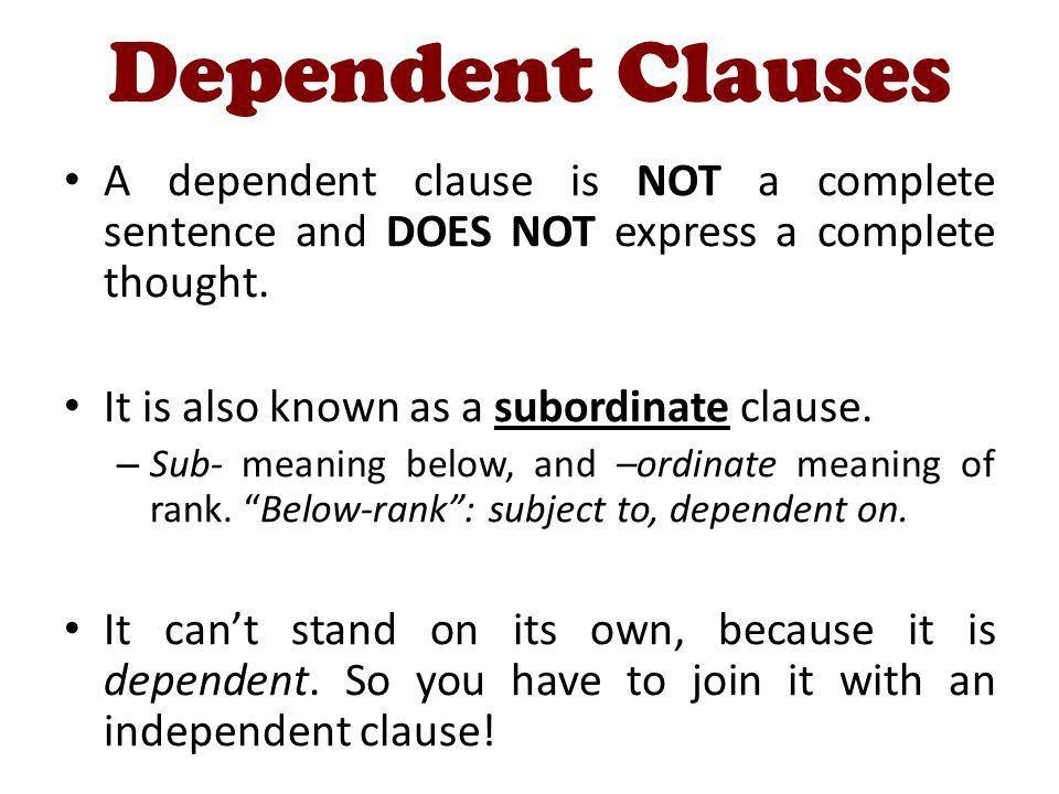 Subordinate Clauses and Complex Sentences - ppt video online download
