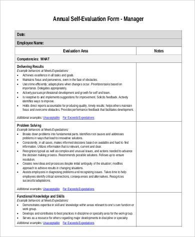 employee self evaluation form template. simple employee self ...