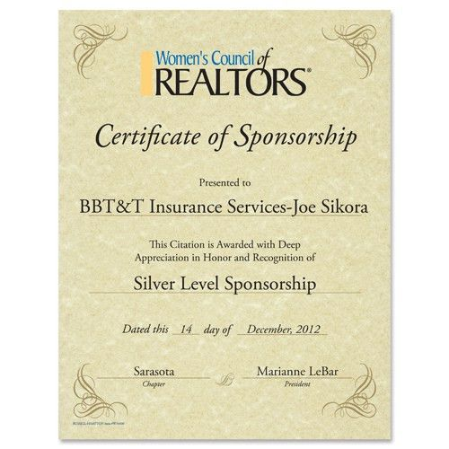 Custom WCR Certificate-Corporate Awards and Clothing - Russell ...
