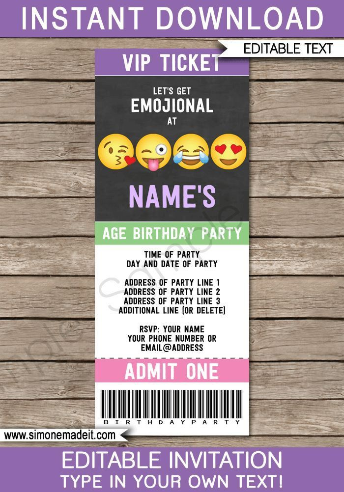 Best 25+ Party tickets ideas on Pinterest | Birthday ideas for ...