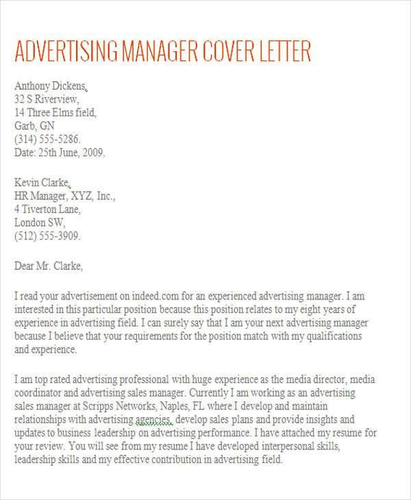 Sample Cover Letter For Account Executive