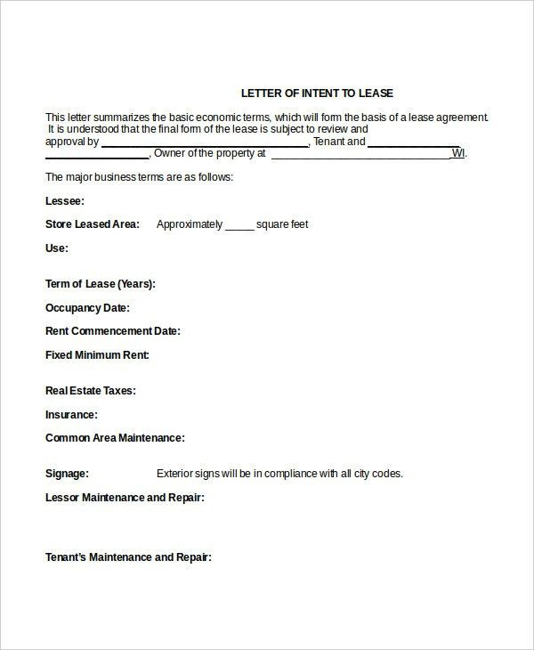 9+ Intent Letter Templates - Free Sample, Example Format Download ...