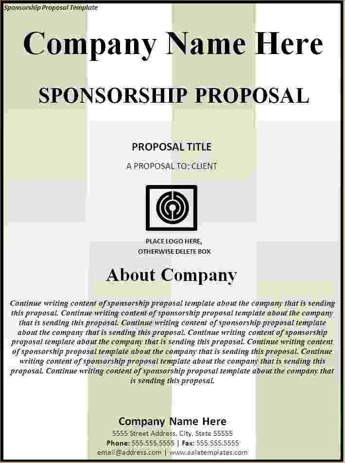 5+ Sponsorship Proposal Template | Timeline Template