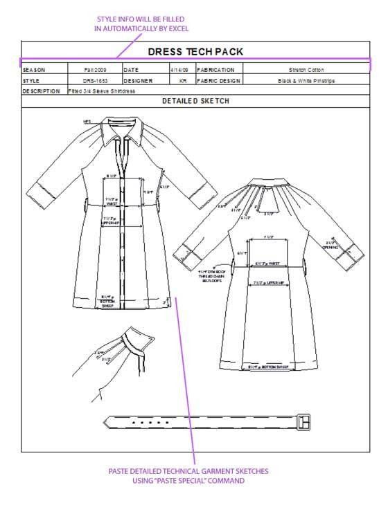 "How to Spec a Garment"" eBook + Tech Packs - My Practical Skills ..."