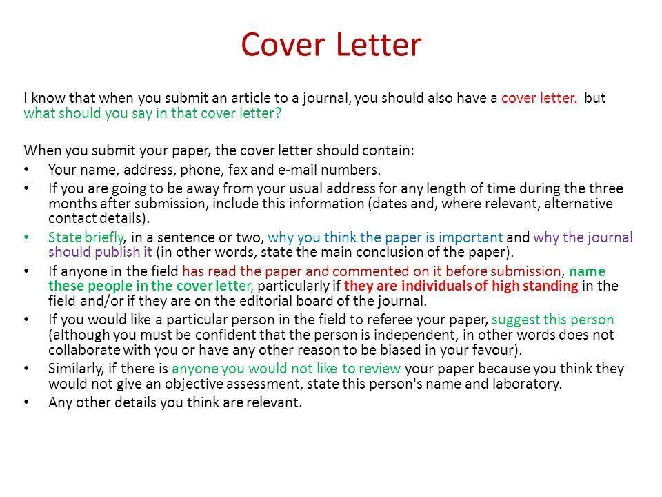 Assessor Cover Letters