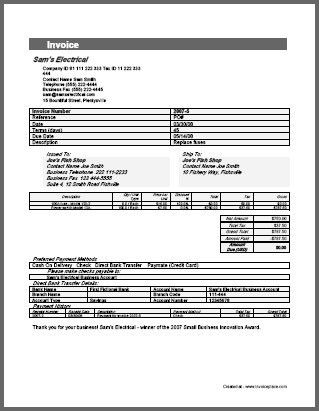 Payment Invoice Template | invoice example