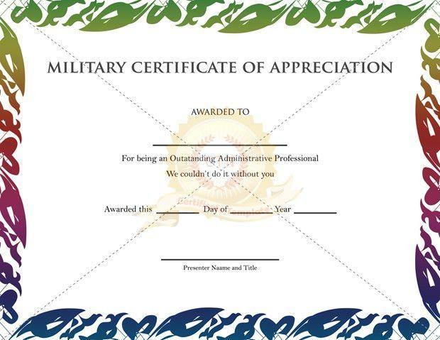 Appreciation Certificate Archives - Certificate Template