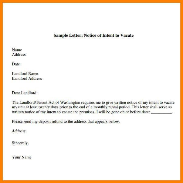 10+ letter of notice to vacate | appeal leter
