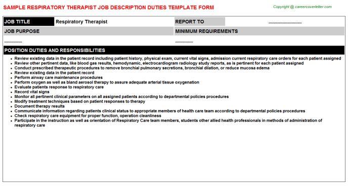 respiratory job description job description of a respiratory