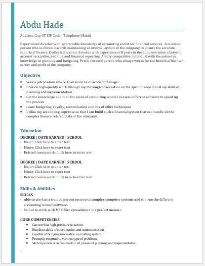 Accounting Director Resume Contents, Layout & Templates | Resume ...