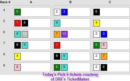 $430,875 Santa Anita Pick 6 Carryover Tickets – Jan. 26 - Pick 6 Blog