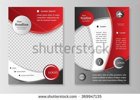 Vector Flyer Template Design Front Page Stock Vector 379807981 ...