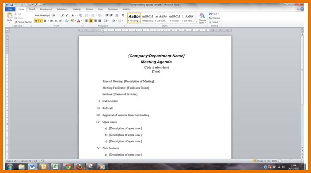 Meeting Agenda Template Word.agenda Template Microsoft Word Course ...