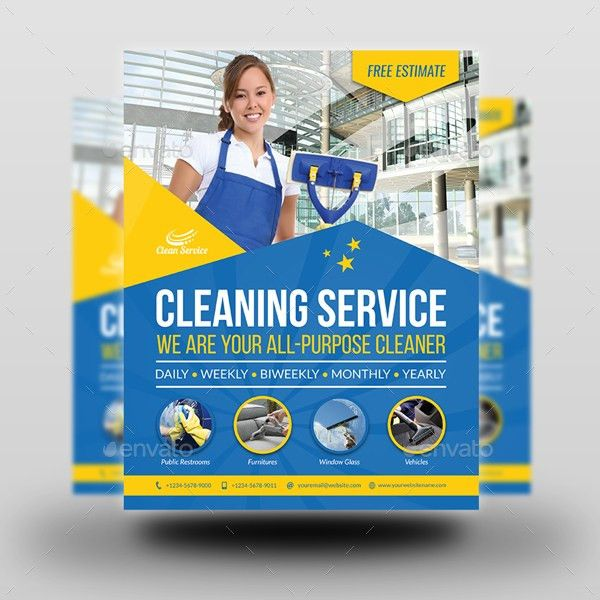 Cleaning Services Flyer Template Vol.4 by OWPictures | GraphicRiver