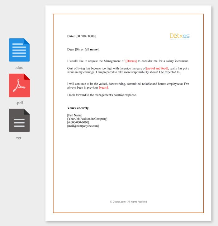 Salary Increment Letter - 14 Best Printable Samples and Formats