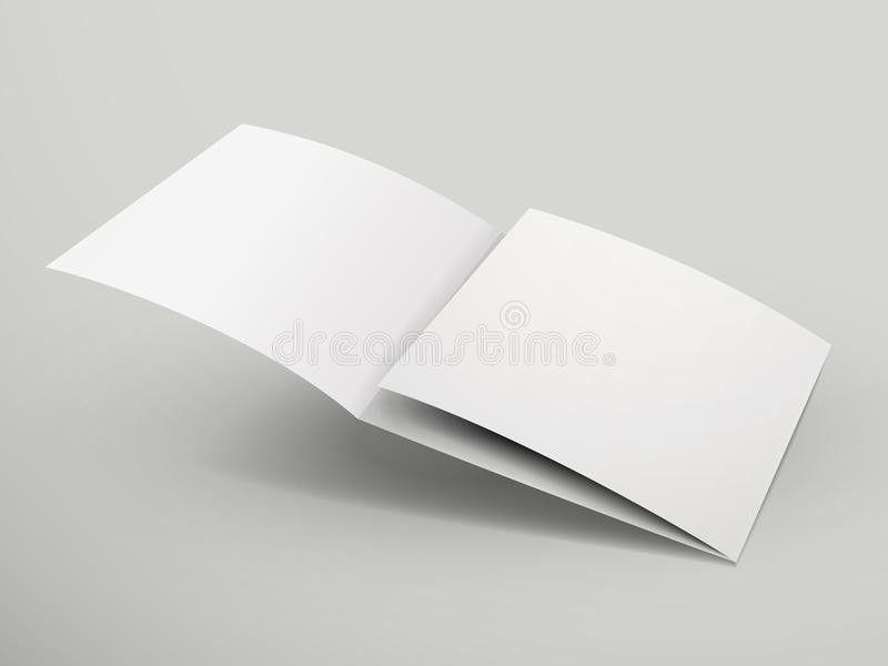 Blank Tri-fold Brochure Design Stock Vector - Image: 45600011