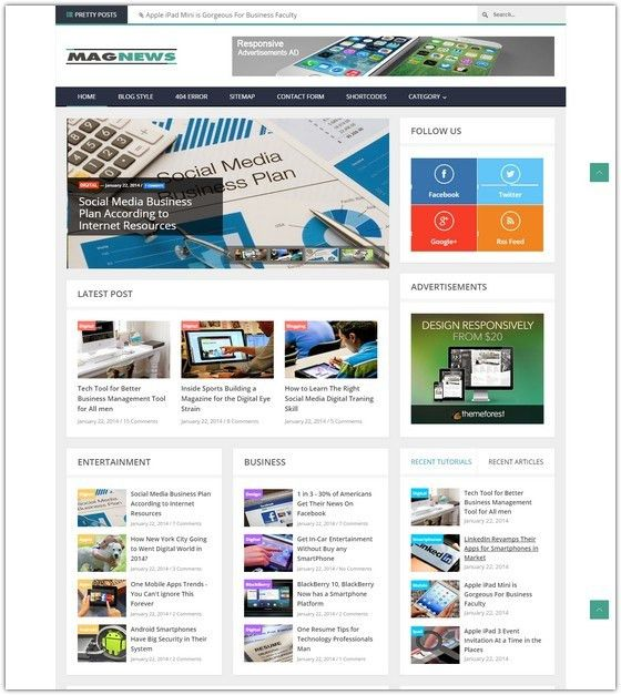 19+ Best Magazine Responsive Blogger Templates - Web Creative All