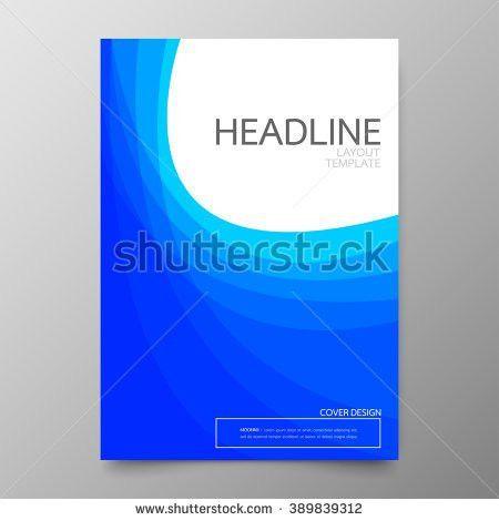 Vector Blue Brochure Annual Report Flyer Stock Vector 314567258 ...