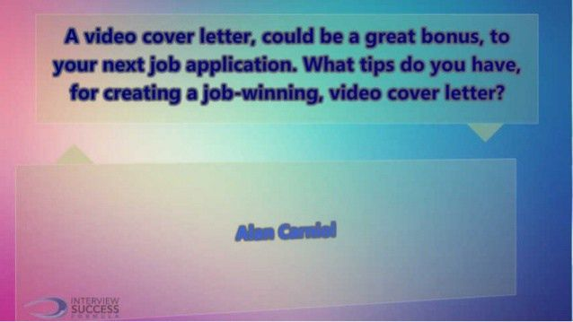 A video cover letter could be a great bonus to your next job applicat…
