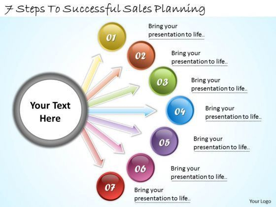 Timeline Ppt Template 7 Steps To Successful Sales Planning ...