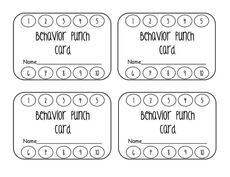 Best 25+ Behavior punch cards ideas on Pinterest | Punched card ...
