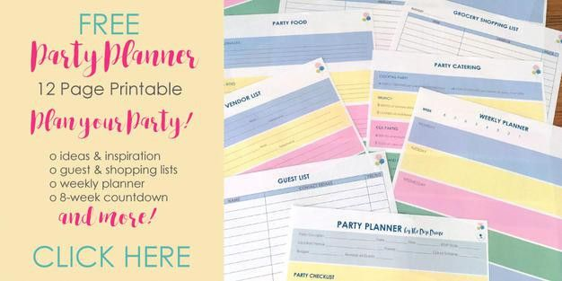 Your FREE Party Planner Printable | Party Printables | Party ...