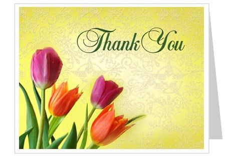 Sunny Thank You Card Template - 2up layout, edit with Microsoft ...