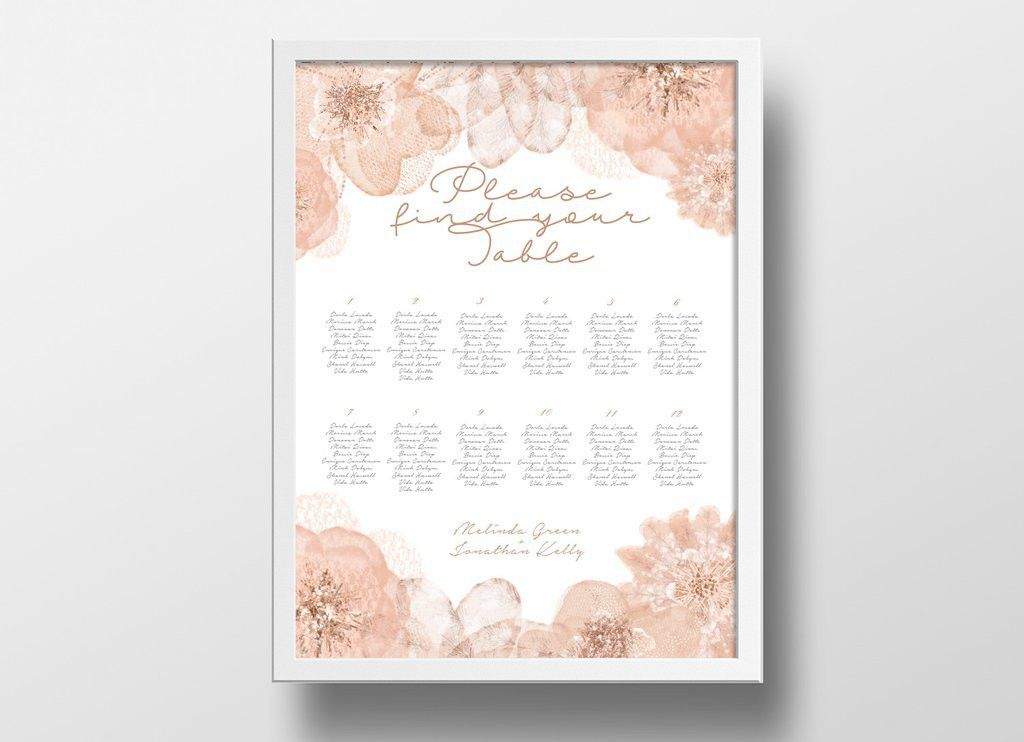 Printable Seating Chart Poster Template | Editable PowerPoint ...