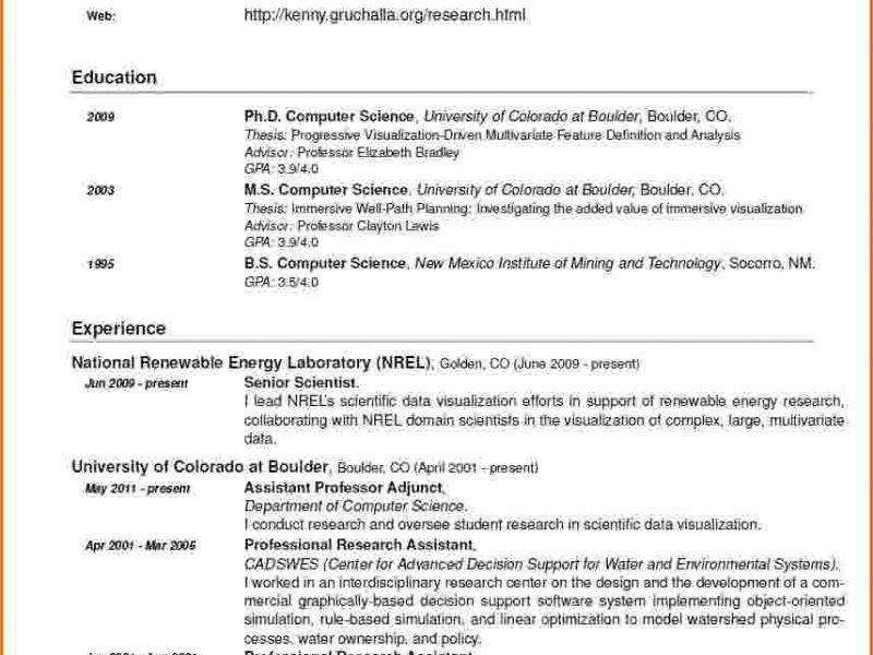 computer science resume example career center computer science