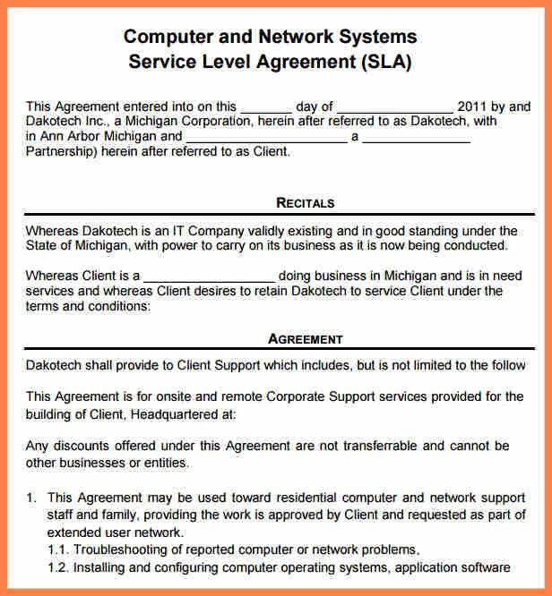 4+ computer repair service agreement template | Purchase Agreement ...