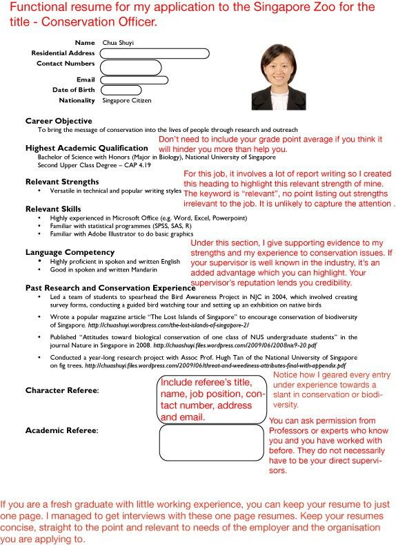 sample resumes | Job Hunter's Guide
