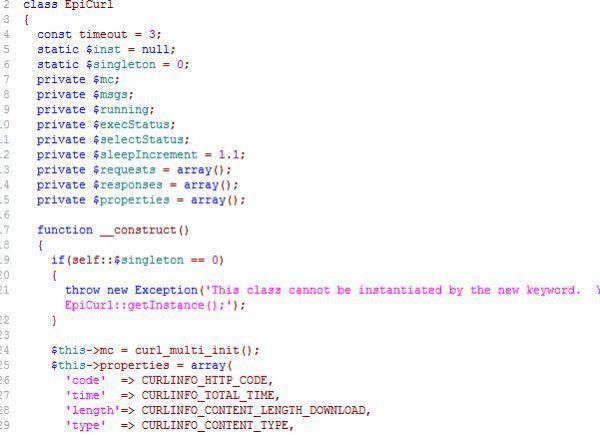 PHP-multi-curl for Web service - free PHP Criteria foursquare http ...