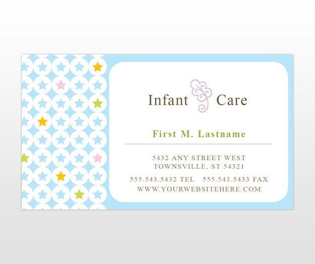 Custom Card Template » Babysitting Card Template - Free Card ...