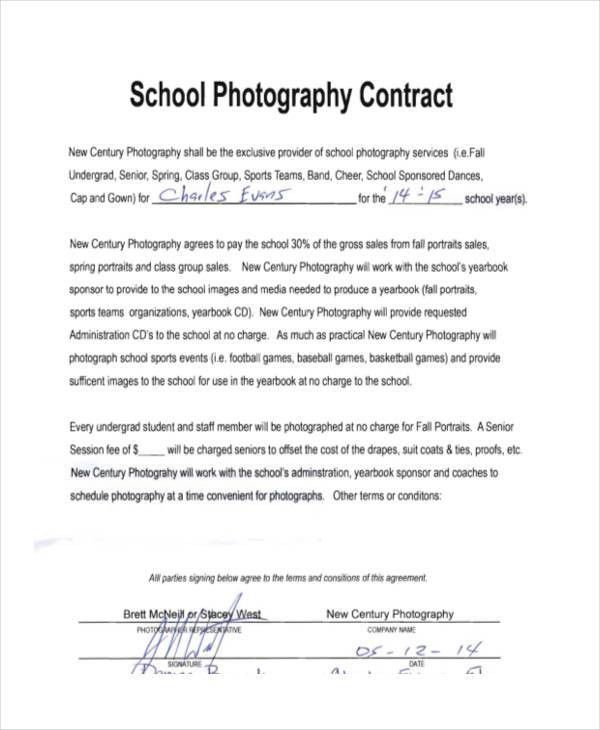 9+ Photography Contract Templates - Free Sample, Example Format ...